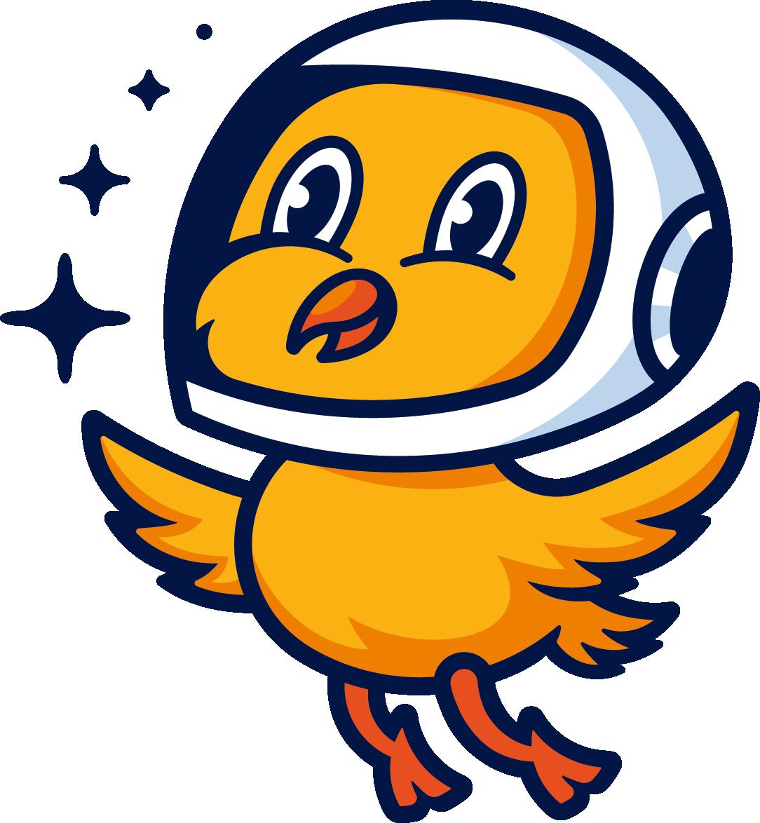 Vesmérní kuře logo